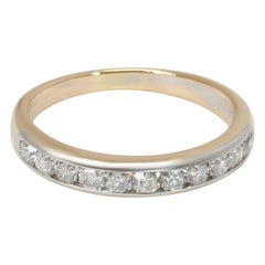Tiffany & Co. Lucida Diamond Wedding Band in 18K Gold and Platinum '0.55 Carat'