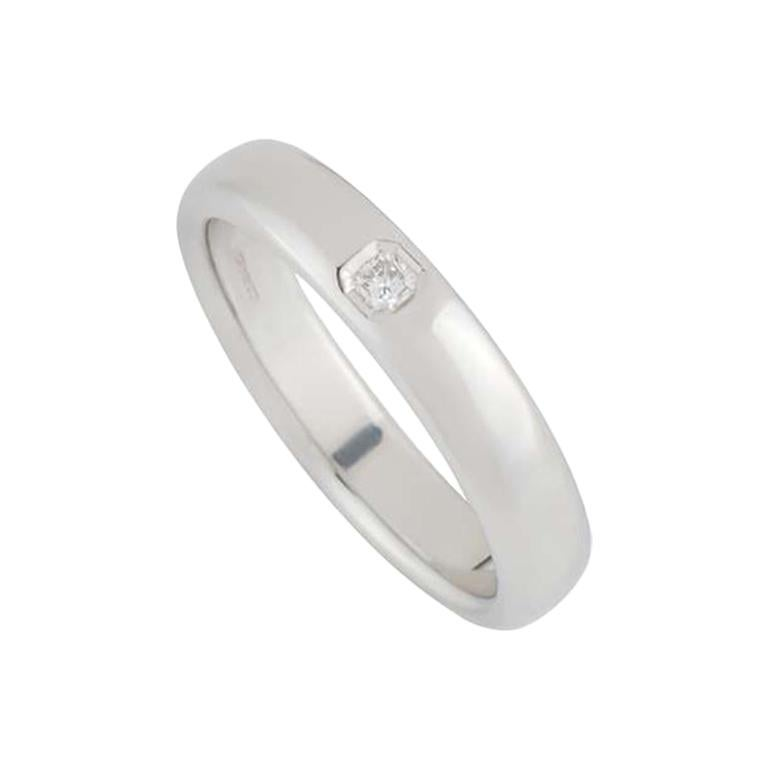 Tiffany & Co. Lucida Diamond Wedding Band Ring in Platinum