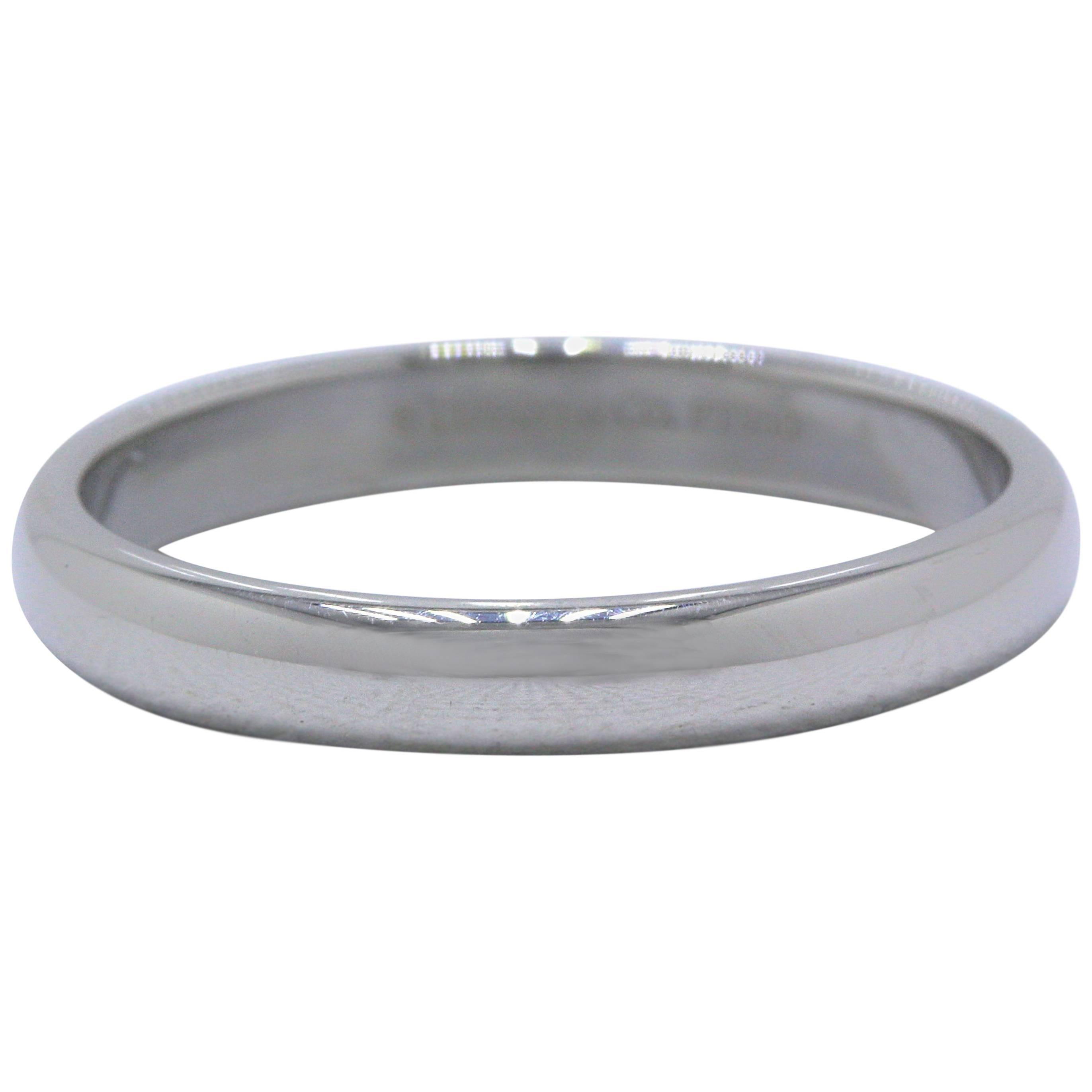 Tiffany & Co. Lucida Platinum Wedding Band Ring 3 mm
