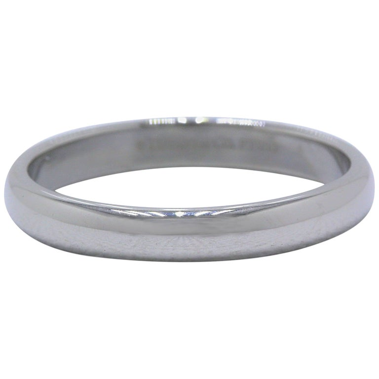 db7df6668 Tiffany and Co. Lucida Platinum Wedding Band Ring 3 mm For Sale at ...
