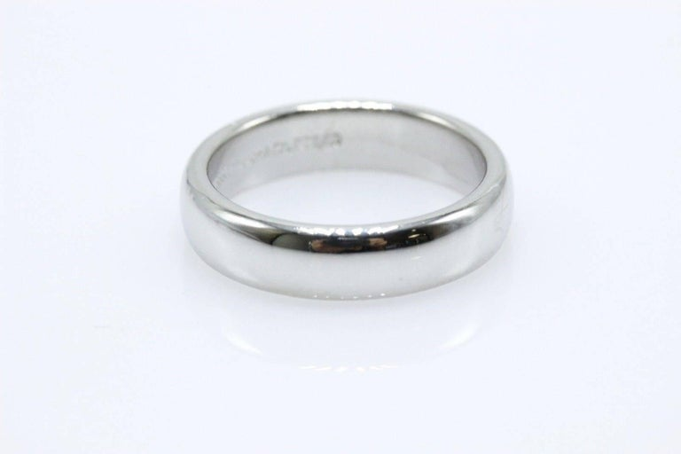 dce5e902b Tiffany and Co. Lucida Platinum Wedding Band Ring 4.5 MM For Sale at ...