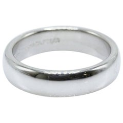 Tiffany & Co. Lucida Platinum Wedding Band Ring 4.5 MM