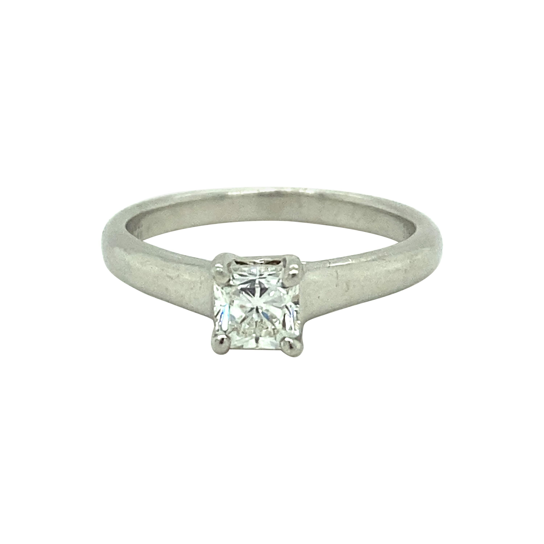 Tiffany & Co 'Lucida' Princess Cut Diamond Engagement Ring, Platinum 0.49 Carat
