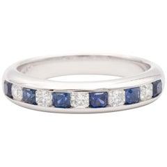 Tiffany & Co. Lucida Sapphire and Diamond Platinum Ring