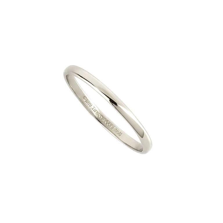 Tiffany & Co. Lucida Wedding Band in Platinum