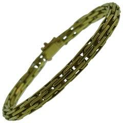 Tiffany & Co. Made in France 18 Karat Yellow Gold Link Bracelet Vintage
