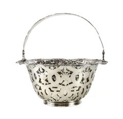Tiffany & Co. Makers Sterling Silver Flower Basket #16201, John C. Moore