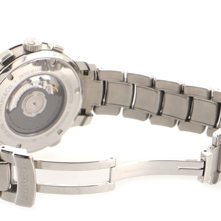 Tiffany & Co. Mark T-57 Chronograph Automatic Watch Stainless Steel 42 For Sale 2