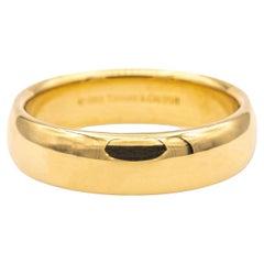 Tiffany & Co. Mens 18K Yellow Gold Wedding Band, Circa 1999