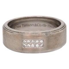 Tiffany & Co. Mens Century Wedding Band in 18K White Gold
