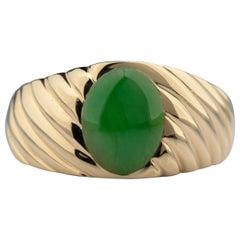 Tiffany & Co. Men's Jadeite Jade Ring GIA Certified