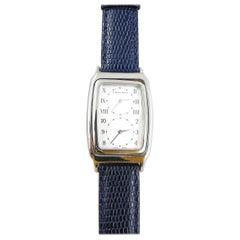 Tiffany & Co. Men's Stainless Steel Dual Time Quartz Rectangular Watch M201