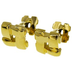 Tiffany & Co. Mesh 18 Karat Yellow Gold Cufflinks