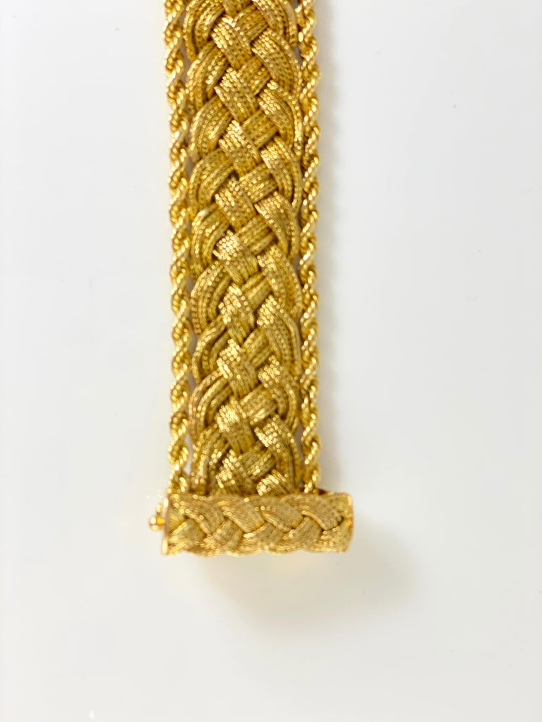 Tiffany & Co. Mesh and Braided 18k Bracelet In Excellent Condition For Sale In New York, NY