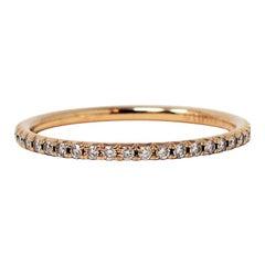 Tiffany & Co. Metro .21 Carat Round Diamond Band Stacking Ring in 18 Karat Gold