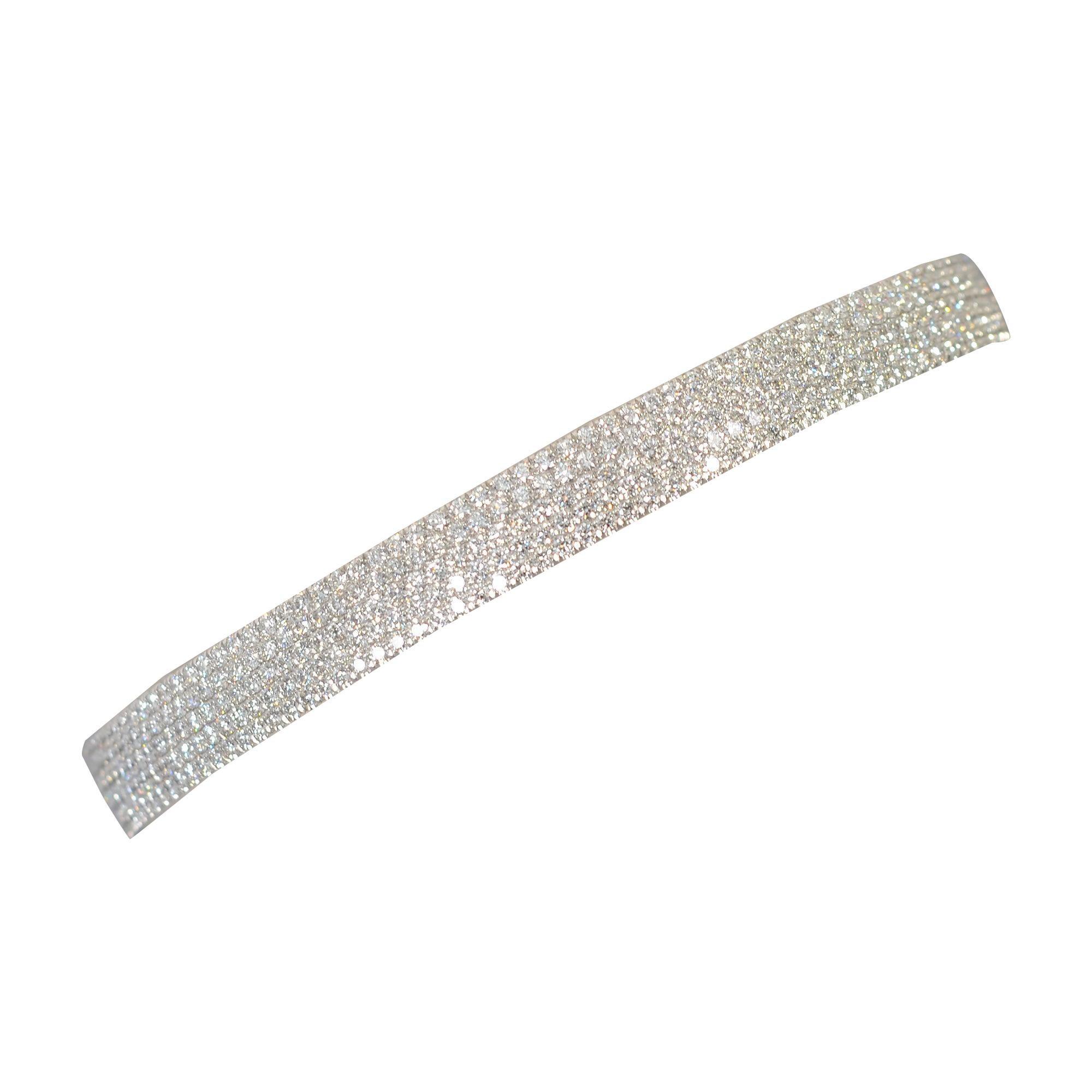Tiffany & Co. Metro Diamond Bangle Bracelet