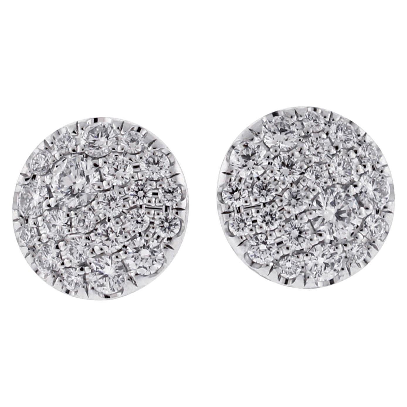 Tiffany & Co Metro Diamond Stud Earrings