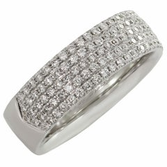 Tiffany & Co. Metro Diamond White Gold Band Ring