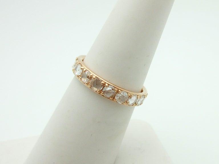 32fb58e41 Tiffany & Co. Metro Rose Cut Diamond Eternity Band 18 Karat Rose Gold In  Excellent
