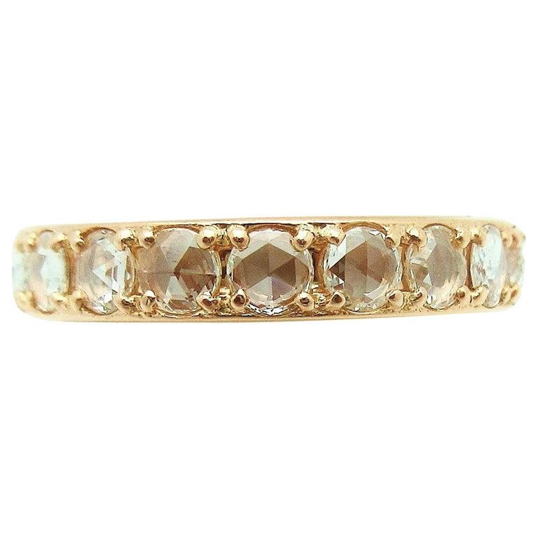 2e0f390b1 Tiffany & Co. Metro Rose Cut Diamond Eternity Band 18 Karat Rose Gold For  Sale