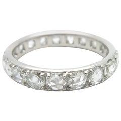 Tiffany & Co. Metro Rose Cut Diamond Eternity Band 18 Karat White Gold