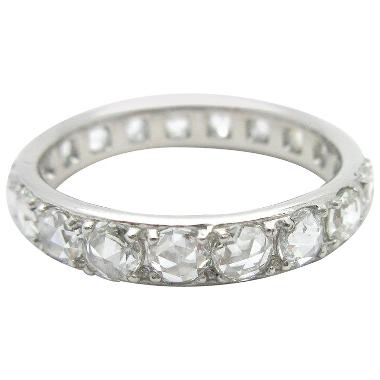 Tiffany And Co Metro Rose Cut Diamond Eternity Band 18