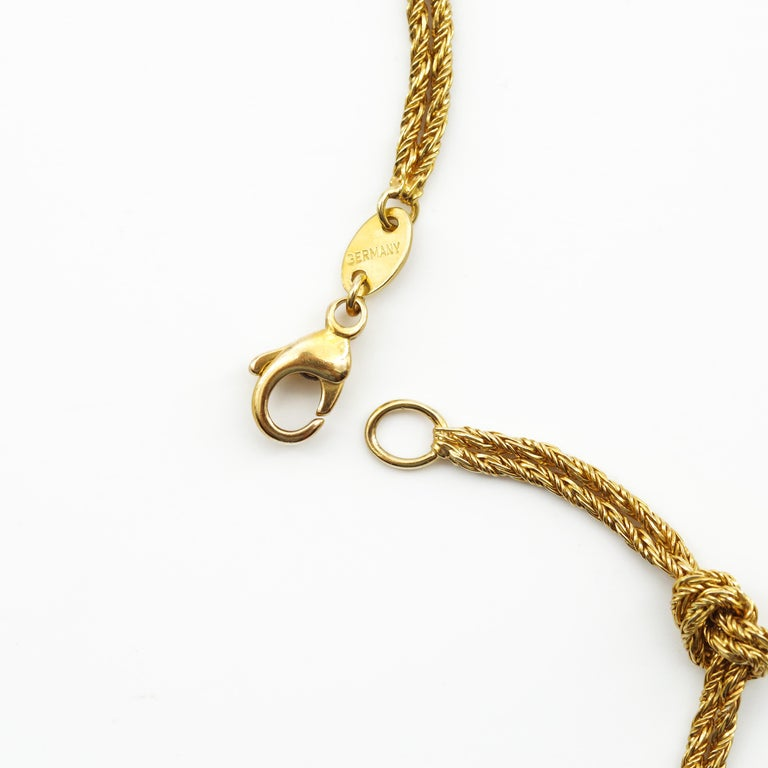 Gold Necklace by Tiffany & Co., Germany In Excellent Condition For Sale In Southbury, CT