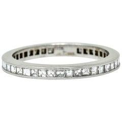 Tiffany & Co. Midcentury 1.25 Carat Diamond Platinum Eternity Band Stack Ring