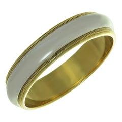 Tiffany & Co. Milgrain Platinum Yellow Gold Wedding Band Ring