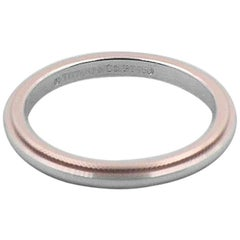 Tiffany & Co. Milgrain Wedding Band Ring in Platinum 2 mm