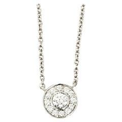 Tiffany & Co. Mini Circlet Diamond Halo Pendant Necklace in Platinum Chain