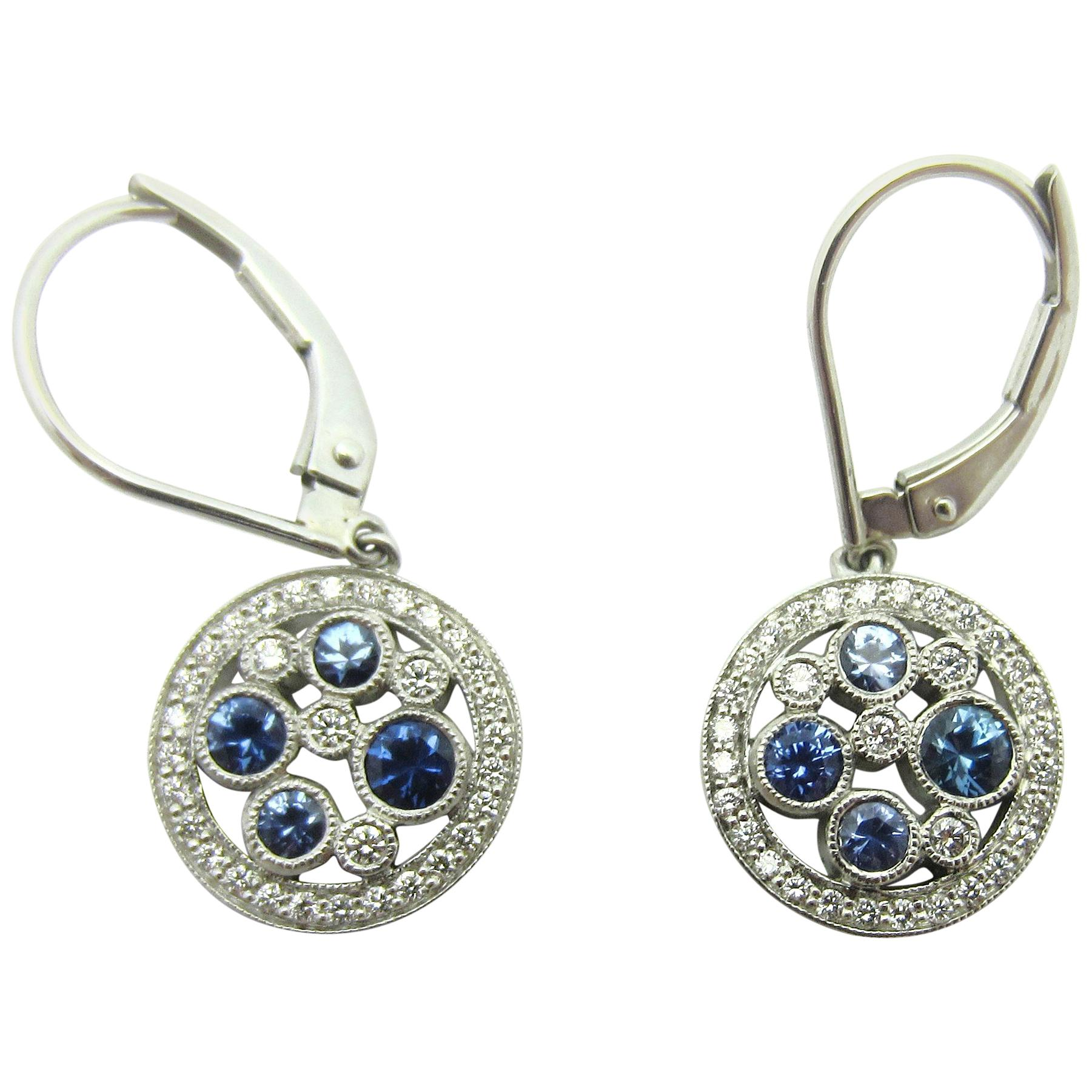 4acf187f5 Tiffany and Co. Montana Sapphire Cobblestone Earrings at 1stdibs