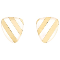 Tiffany & Co. Mother of Pearl and Gold Earrings