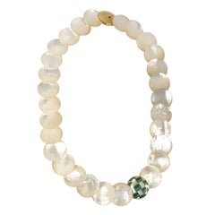 Tiffany & Co. Mother of Pearl Gold and Malachite Inlay Necklace