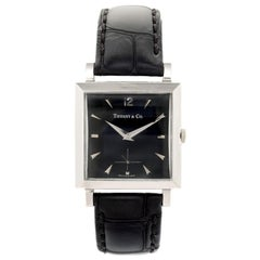 Tiffany & Co. Movado White Gold Strap Wristwatch