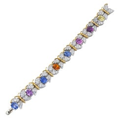 Tiffany & Co. Multi-Color Sapphire, Diamond Bracelet
