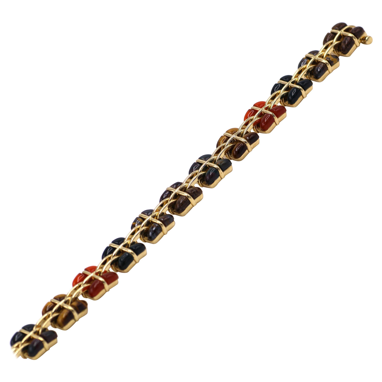 Tiffany & Co. Multi Stone 18 Karat Gold Bracelet