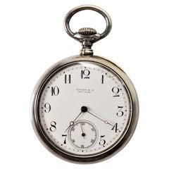 Tiffany & Co. New York Sterling Silver Pocket Watch