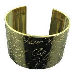Tiffany & Co. Notes 18 Karat Yellow Gold Cuff