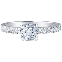 Tiffany & Co. Nova Cushion 0.71 H VVS1 Carat Diamond Engagement Ring