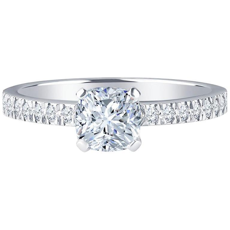 Engagement Ring For Sale Grande Prairie: Tiffany And Co. Nova Cushion 0.71 H VVS1 Carat Diamond