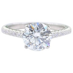 Tiffany & Co NOVO 1.62 Carat E VS1 Round Diamond Engagement Ring