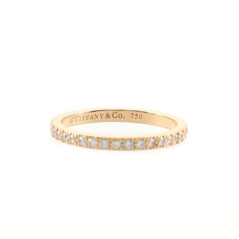 Tiffany & Co. Novo Band Ring 18k Rose Gold and Diamonds In Good Condition For Sale In New York, NY