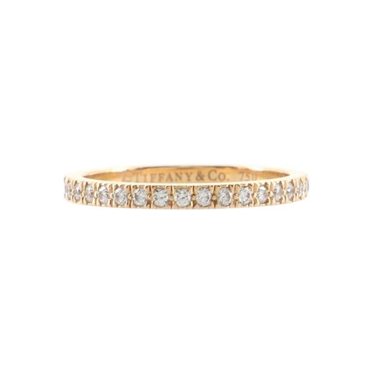 Tiffany & Co. Novo Band Ring 18k Rose Gold and Diamonds For Sale