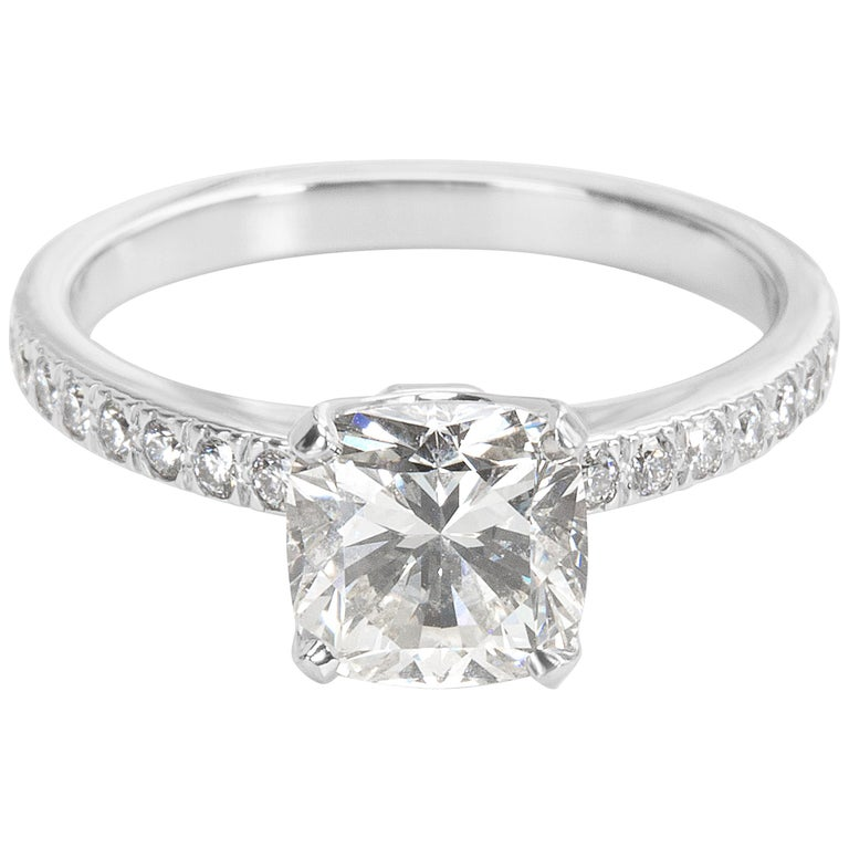 cafd40446 Tiffany & Co. Novo Cushion Diamond Engagement Ring in Platinum I/VS1 1.51  Carat