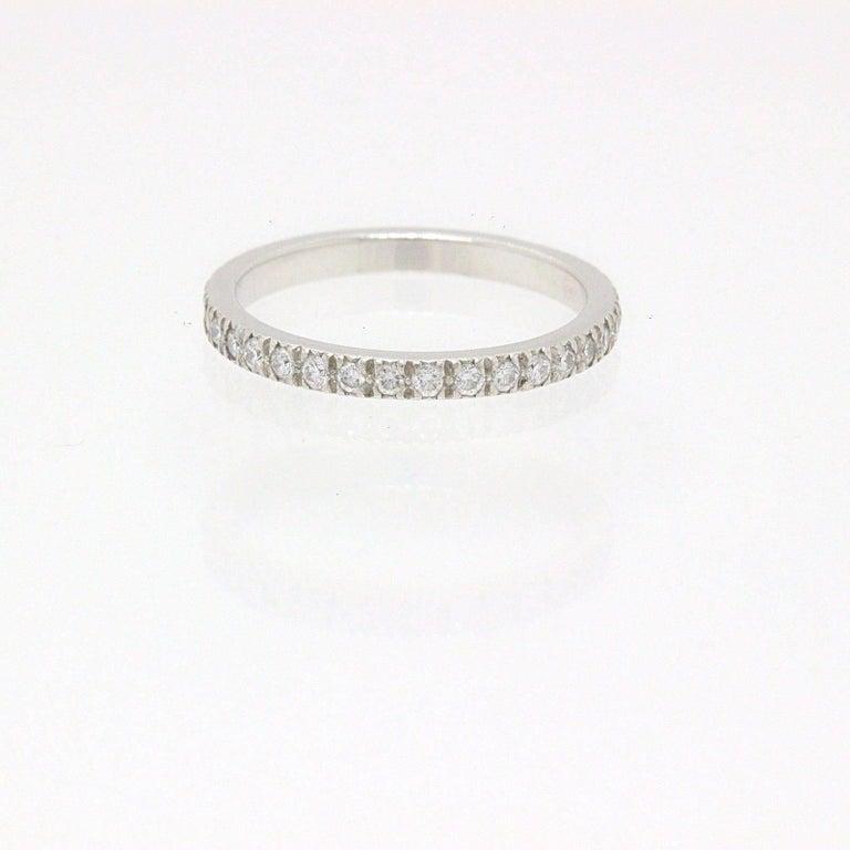 Tiffany Co Platinum Lucida 2mm Wedding Band Ring Sz 8: Tiffany And Co. Novo Diamond And Platinum Full Circle