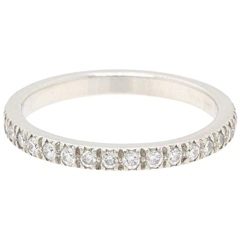 e7761541a5cf Tiffany   Co. Novo Diamond and Platinum Full Circle Wedding Band Ring For  Sale