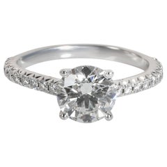 Tiffany & Co. Novo Diamond Diamond Engagement Ring in Platinum G VVS2 1.18 CTW