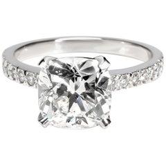 Tiffany & Co. Novo Diamond Engagement Ring in Platinum E VVS1 2.67 Carat