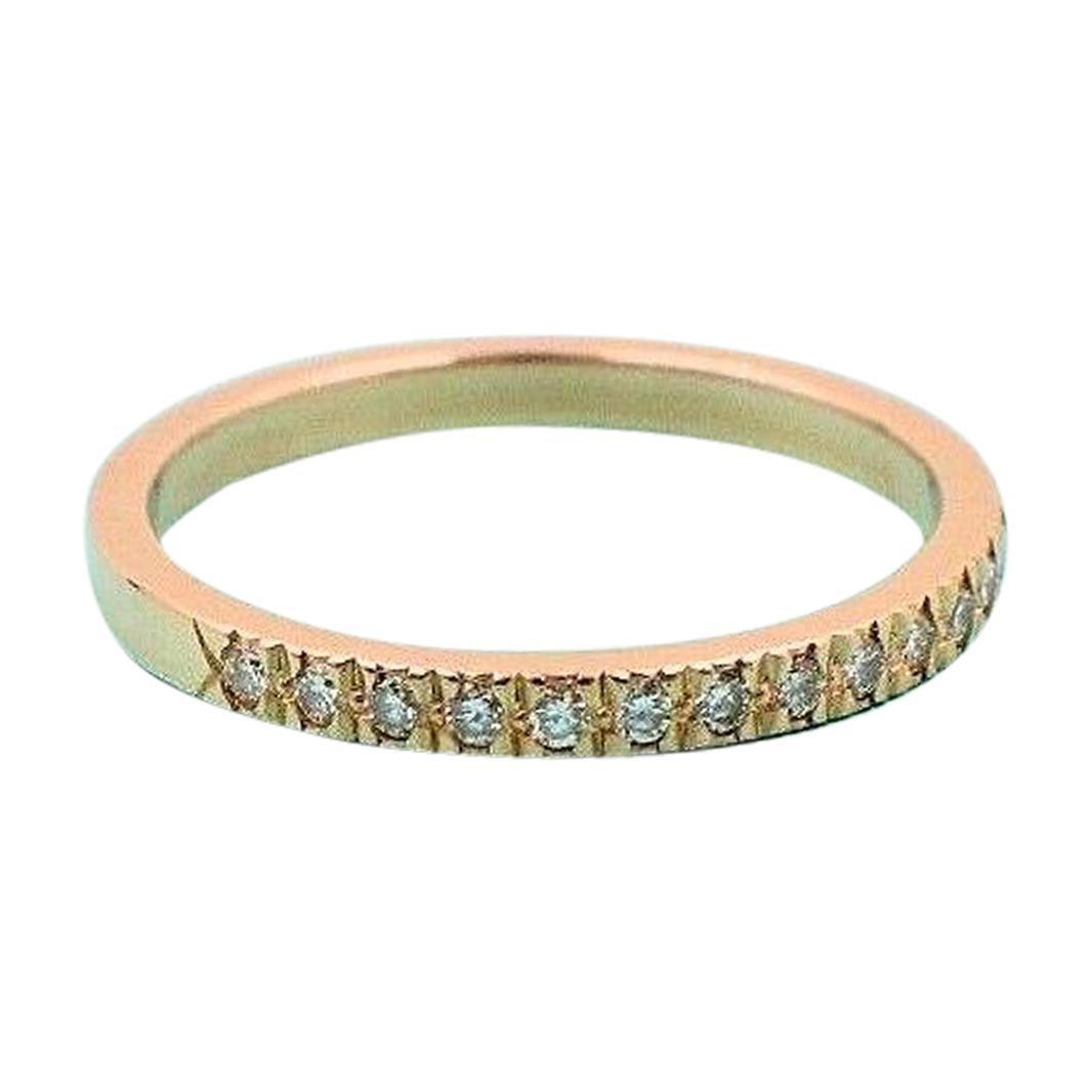 Tiffany & Co. Novo Diamond Half Circle Band Ring 18 Karat Rose Gold